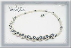 collier Iva bleu argent