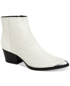 Calvin Klein Women's Narice Varnished Boots - White 6.5M