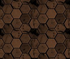 dark_brown_hexagon_tile_background_seamless