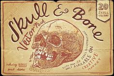 Vintage Skull and Bone Vector pack by It's me simon on @creativemarket