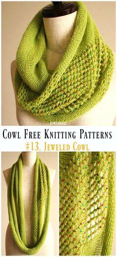 Women Cowl Free Knitting Patterns – The Best Ideas Snood Knitting Pattern, Chunky Knitting Patterns, Loom Knitting, Knitting Stitches, Free Knitting, Knitting Tutorials, Finger Knitting, Scarf Patterns, Knitting Machine