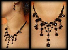 Elegant Black Crystal Set by FxSolya