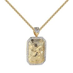 30 Quot Franco Chain Necklace Iced Out Praying Hands Jesus