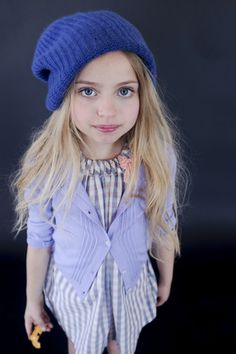 OLIVIA steals my hat and looks better in it... Behind the Scenes on my VELVETEEN shoot.