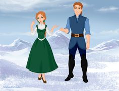 Anna and Hans as Belle and Gaston. I can actually see Hans as him and that he's conceited and vain and only wants Anna for his own gain.