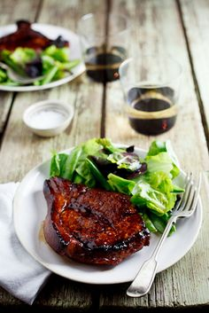 Sticky Honey & Soy Pork Chops. #recipes #meat #pork #dinner