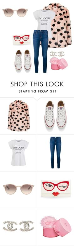 """""""Untitled #89"""" by lemonwig ❤ liked on Polyvore featuring Topshop, Converse, Ally Fashion, Frame Denim, Ray-Ban, Kate Spade, Chanel, Elizabeth Arden, women's clothing and women"""
