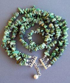 Chunky Turquoise Triple Strand Statement Necklace by SeaSaltShop, $25.00