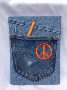 Recycled / Jean Covered Composition Notebook by CreativeSewingSue, $16.95