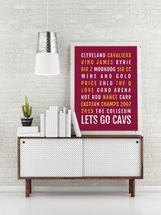 Cleveland Cavaliers Print - Cavs - Ohio Subway Poster 00afa21e5