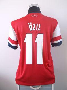 d3fef7741 Mesut OZIL  11 Arsenal Home Football Shirt Jersey 2013 14 (M)