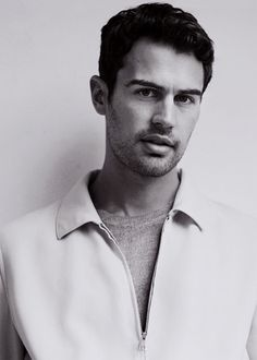 Theo James - InStyle 2016 - how dark his hair is and that sweater looks so damn good on him