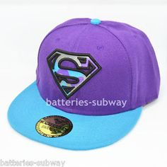 purple baseball cap | ... New-Superman-Snapback-Adjustable-Purple-Classic-baseball-cap-hat-Blue