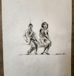 Dance and sketch art drawing