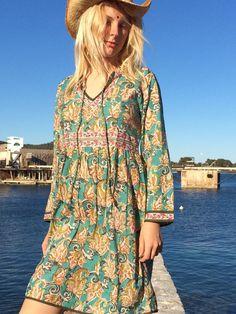 Short vintage hippie dress