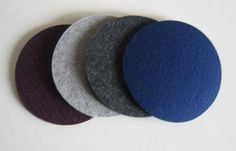 Functional & fun coasters!  Multi-color Thick Industrial Felt Drink Coasters, Felt Drink Coasters. $16.00, via Etsy.