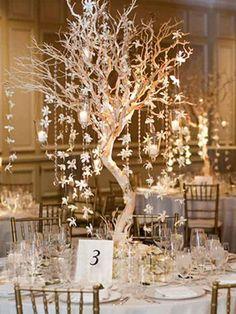 Manzanita Tree Centerpieces, Manzanita Branches, Wedding Centerpieces, Wedding Decorations, Table Decorations, Manzanita Wedding, Centerpiece Ideas, Tree Branches, Winter Centerpieces