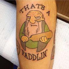 @jasonhoodrich #thatsapaddlin #thesimpsonstattoo #thesimpsons #Simpsons #tattoo #moe #inked #tat #tattyslip #simpsonsfan #homer #bart #lisa #maggie #marge #mattgroening #futurama #cartoontattoo #cartoontats #epictattoo