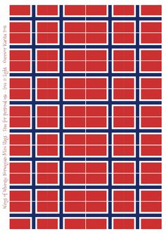 Free Printable flag of Norway coloring