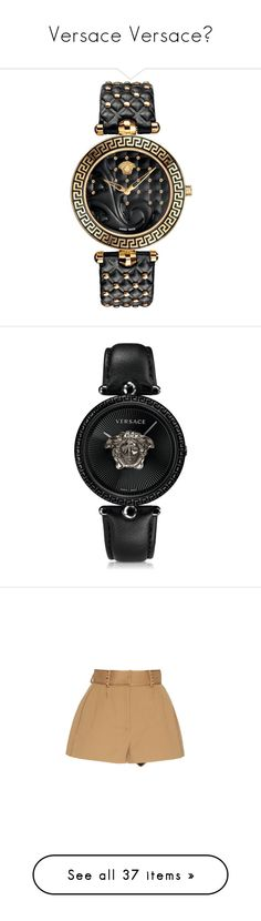 """""""Versace Versace😍"""" by josalyn-speight ❤ liked on Polyvore featuring jewelry, watches, relógios, accessories, versace, stainless steel watches, baroque jewelry, analogue watch, versace jewellery and versace jewelry"""