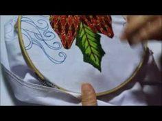 [ Bordado Fantasía ] HOJAS - Niña Nochebuena | Bordados con Isa - YouTube