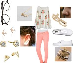 """School1"" by rayanna-alycia on Polyvore"
