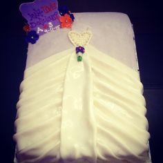 Wedding Dress themed Bridal Shower Cake