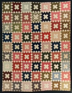 Chimney Sweep signature quilt, 1850-1870.  From the International Quilt Study Center & Museum. IQSC 2008.040.0181.