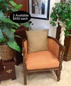 Checkout this amazing product Vintage barley twist club accent chair - 2 Available.   at Shopintoit