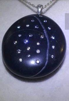 Beach Stones, Silver Diamonds, Statement Jewelry, Christmas Bulbs, Jewelery, My Etsy Shop, Handmade Items, Pendants, Sterling Silver