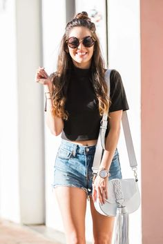 Crop Top With High Waisted Bottoms