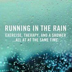 Running in the rain...