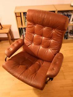 Original, retro, godt brukt Stressless lenestol fra 70-tallet | FINN.no Stress Less, Floor Chair, Flooring, The Originals, Retro, Furniture, Home Decor, Decoration Home, Room Decor