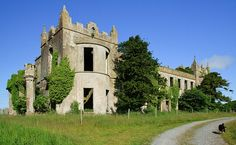 The Three Beautiful Abandoned Mansions of County Galway - Tyrone House was built in destroyed by the IRA. Abandoned Mansion For Sale, Abandoned Castles, Abandoned Mansions, Abandoned Places, Old Buildings, Abandoned Buildings, Haunted Hotel, Mansion Interior, Castle Ruins