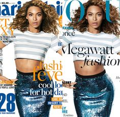 I love Maureen Corbett Gentile's board. For your analysis: Beyonce on the covers of Marie Claire Australia and Vogue UK.
