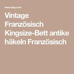 Vintage Französisch Kingsize-Bett antike häkeln Französisch