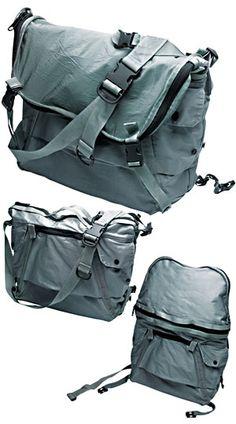 Shadow Project bag.. transforms/changes into different carry modes..