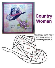 Irisvouwen: Country Woman hat
