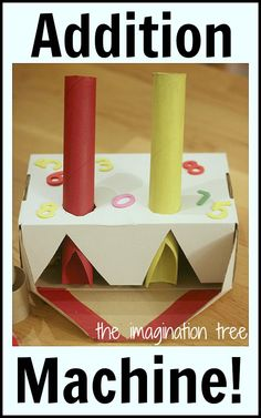 and Counting Machine Maths Activity Make a magical counting and addition machine for hands on learning!Make a magical counting and addition machine for hands on learning! Math Activities For Kids, Math For Kids, Fun Math, Math Resources, Math Classroom, Kindergarten Math, Teaching Math, Creative Teaching, Imagination Tree