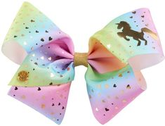 Enchanting style is effortless with this girls' JoJo Siwa rainbow unicorn hair bow. I Am A Unicorn, Unicorn Hair, Unicorn Party, Girls Bows, Girls 4, Toys For Girls, Jojo Hair Bows, Jojo Bows, Rainbow Bow