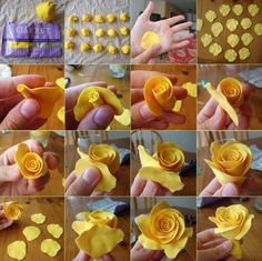 How to make a fondant rose - pictorial only