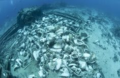 Second shout out to our mystery destination where you can visit the wreck of Yolanda – complete with the cargo she was carrying which included cars, and hundreds of toilet bowls, as you can see!