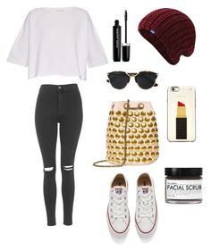 """""""Untitled #158"""" by tyra-breann on Polyvore featuring Helmut Lang, Converse, Topshop, Jérôme Dreyfuss, Christian Dior, Kate Spade, Fig+Yarrow, Keds and Marc Jacobs"""