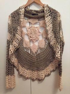 "Photo from album ""Vanessa Montoro"" on Yandex. Vanessa Montoro, Crochet Doll Dress, Crochet Clothes, Crochet Jacket, Crochet Cardigan, Hand Crochet, Knit Crochet, Boho Fashion, Knitting"