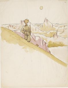 Antoine de Saint-Exupéry's Original Watercolors for The Little Prince | Brain Pickings