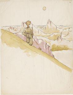Antoine de Saint-Exupéry's Original Watercolors for The Little Prince | Brain Pickings