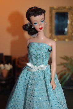 Vintage Mattel Barbie Doll 850 Ponytail 1960 4 Brunette , restored