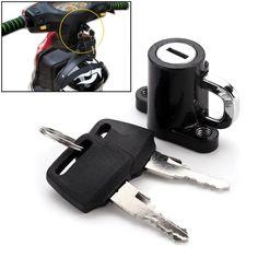 Universal Motorcycle Motorbike Bike Helmet Lock Hanger Hook with 2 Keys Black 46 x x Bike Hanger, Hanger Hooks, Motorcycle Helmet Lock, Motorbike Accessories, Cheap Motorcycles, 2 Keys, The Black Keys, How To Buy Land, Motorbikes