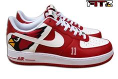 Arizona Cardinals Custom Nike Air Force 1 for Larry Fitzgerald by JGoods