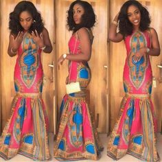 Creative Long Ankara Gown Design - DeZango Fashion Zone